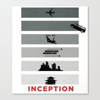 inception Canvas Prints featuring Inception by Duck Cartel