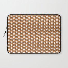 A thousand white stars on an orange background Laptop Sleeve