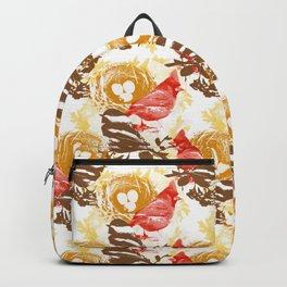 Cardinal Chickadee Pattern Backpack