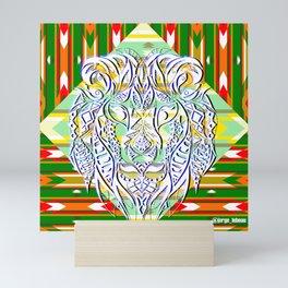 Green King Lion ecopop Mini Art Print