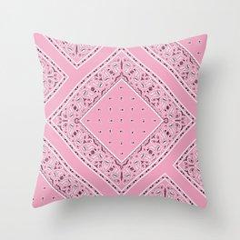 Pink Bandana Diamond Patches  Throw Pillow