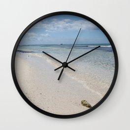 Caribbean Paradise Beach Wall Clock