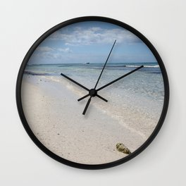 Caribbean Paradise Beach Wall Clock