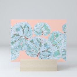 Tropical Sea Grape Leaves Mini Art Print