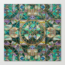 Web of Wyrd The Matrix of Fate -Abalone Shell Canvas Print