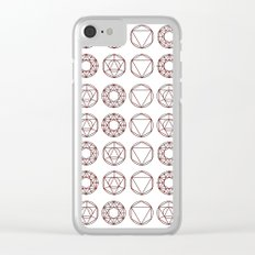 Geometry Shapes Clear iPhone Case