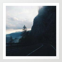 A Drive Through the Swiss Alps Art Print