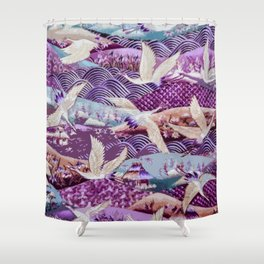 Elegant Birds of the Same Feather Shower Curtain