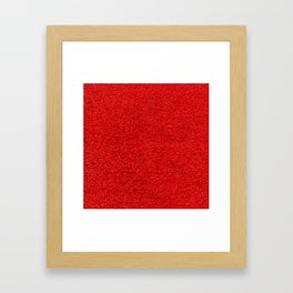 Rose Red Shag pile carpet pattern Framed Art Print