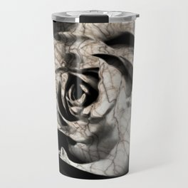 Rose forming from light and shadows Travel Mug