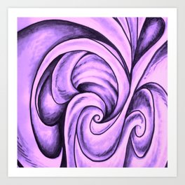Swirl (NEON PINK) Art Print