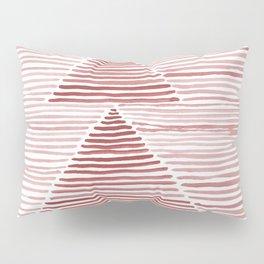 Rosario Watercolor in Pink Pillow Sham