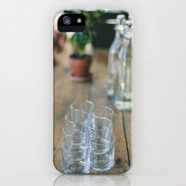 Wood Grain & Glasses  iPhone Case