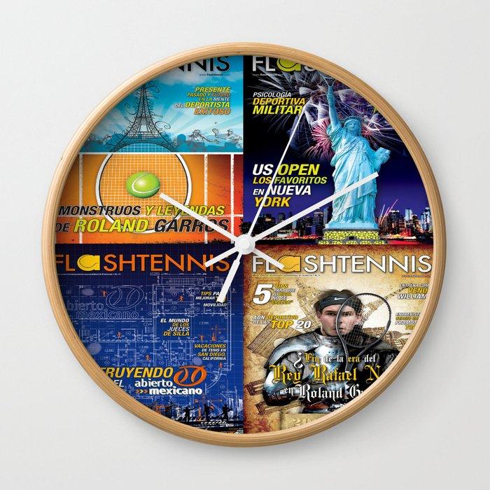 Tennis Magazine Covers Wall Clock