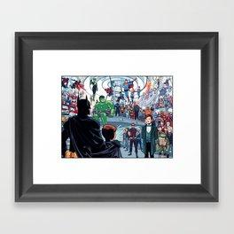 You'll Be Safe Here Framed Art Print
