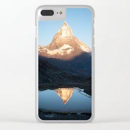 Matterhorn Sunrise Clear iPhone Case