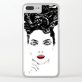 La femme Medusa white Clear iPhone Case