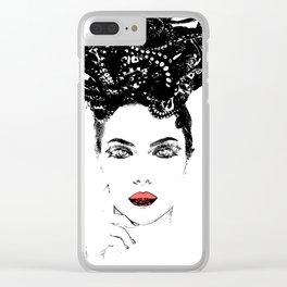 La femme Medusa white Clear iPhone Case