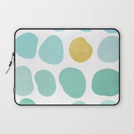 Aqua Pebbles & gold Laptop Sleeve