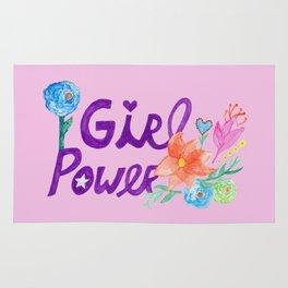 Girl Power Flowers Rug
