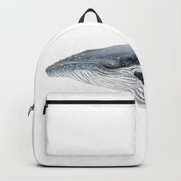 Humpback whale portrait Backpack