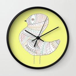 GOLDEN BIRD TWO Wall Clock