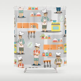 Young Chef Shower Curtain