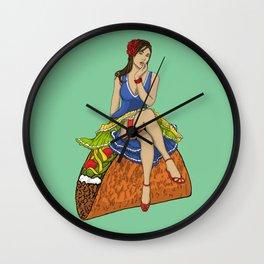 Pinup Taco Wall Clock