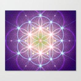 Purple Flower of Life Canvas Print