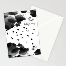 let's go away Stationery Cards