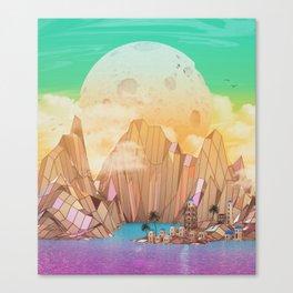 Emerald Town Canvas Print