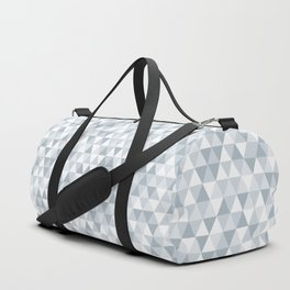 shades of ice gray triangles pattern Duffle Bag