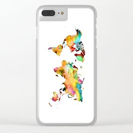 world map 71 Clear iPhone Case