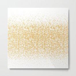 GOLDEN BALL PATTERN Metal Print