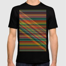 Ovrlap Black Mens Fitted Tee SMALL