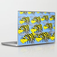 bees Laptop & iPad Skins featuring Bees by David Abse