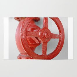 Red steam valve PHOTOGRAPHY Rug