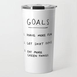 Goals Travel Mug