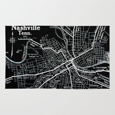 Vintage Nashville Black Rug