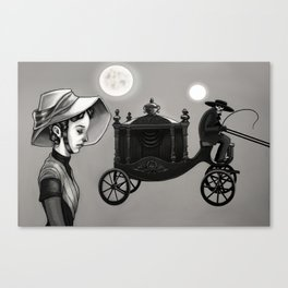 He Kindly Stopped for Me Canvas Print