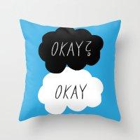 okay Throw Pillows featuring Okay? Okay by Lola