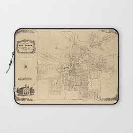 Map Of Ann Arbor 1854 Laptop Sleeve