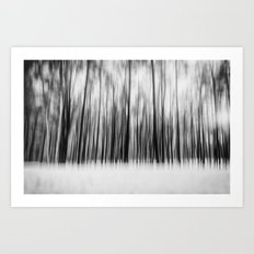 Trees | Black and White Art Print
