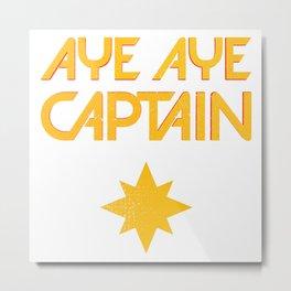 O captain! My captain! - Carol Danvers Metal Print