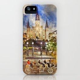 Jackson Square Watercolor iPhone Case