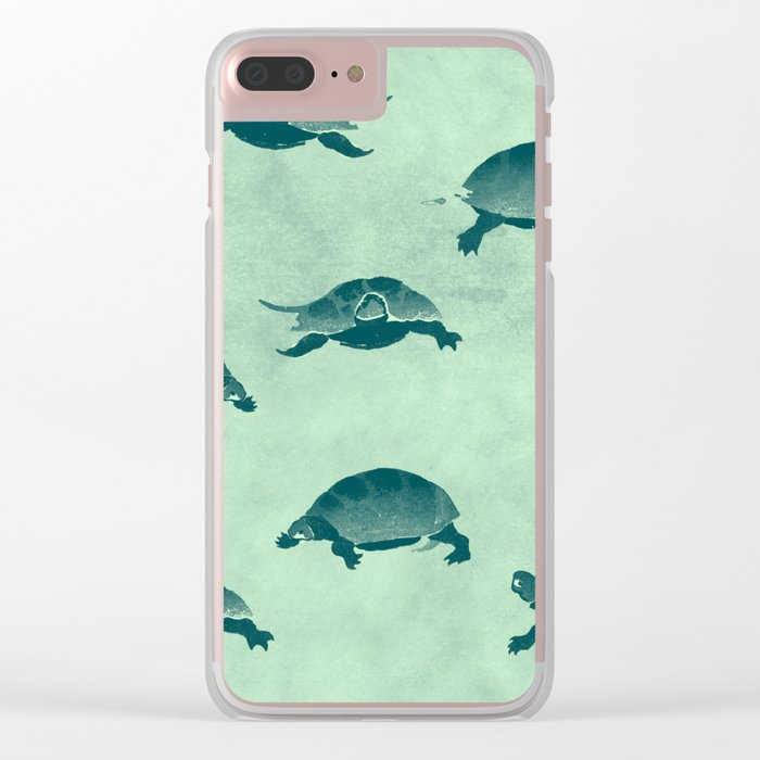 Down with the turtles Clear iPhone Case