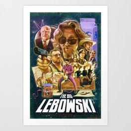 Lebowski Star War Poster Art Print