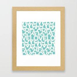 Hidden blue LOVE message Framed Art Print