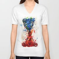 alchemy V-neck T-shirts featuring abstract alchemy by Jesse Kerr