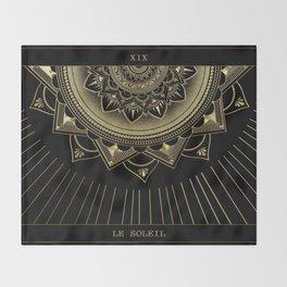 Le Soleil (The Sun) Tarot Card Throw Blanket